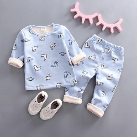Cartoon Dinosaur Print Round Neck Sets (4965298)