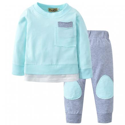 Long Sleeves Round Neck Leisure Sets (4872577)