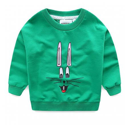 Solid Color Cartoon Bunny Pattern T-Shirt (4968009)
