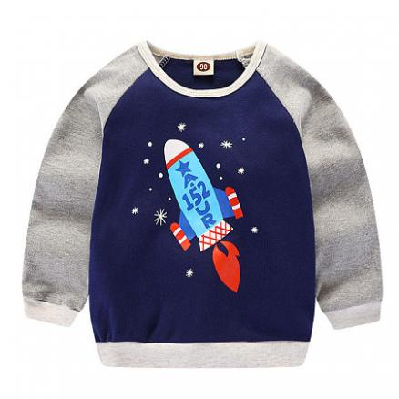 Cartoon Rocket Pattern T-Shirt (4962916)