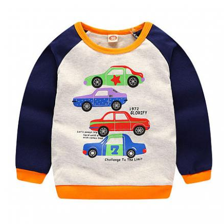Cartoon Car Pattern T-Shirt (4962886)