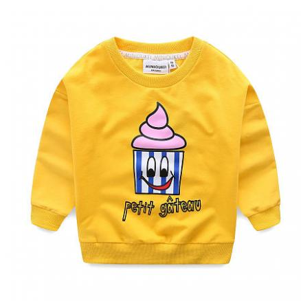 Solid Color Cartoon Ice Cream Pattern T-Shirt (4968130)