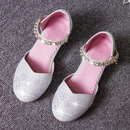 Shining Rhinestones Inserted Girls Summer Shoes (3434728)