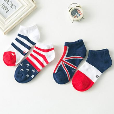 Stripe & Star 4 Pcs Ankle Socks (3506941)