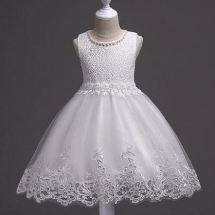 Embroidered Flowers Beads Decorated Princess Dress (3787398)