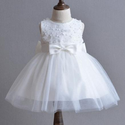 Stereoscopic Flower Ornament Bowknot Belt With Weave Hair Band Princess Dress (4200494)