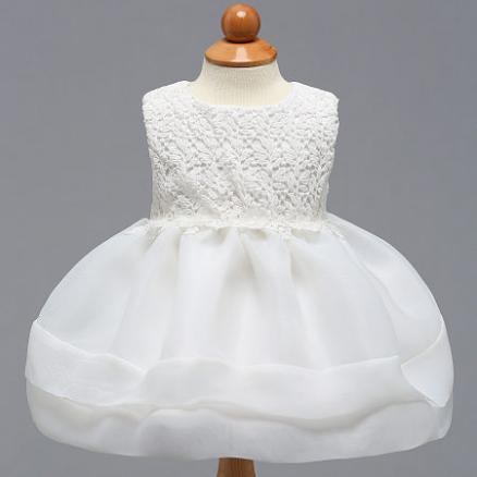Leaves Hollowed Lace Tulle Sleeveless Princess Dress (4403311)