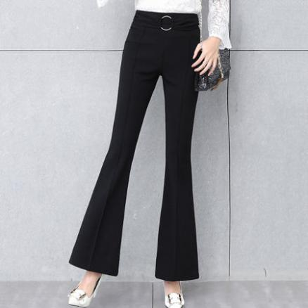 Black Casual Flared Pants (3973423)