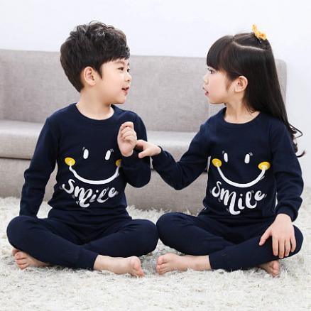 Brother Sister Simle Face Letters Pattern Matching Pajamas (4972142)