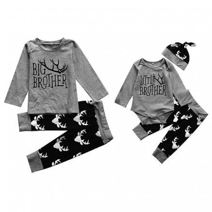 Brothers Letters Pattern Matching Outfits (4417812)