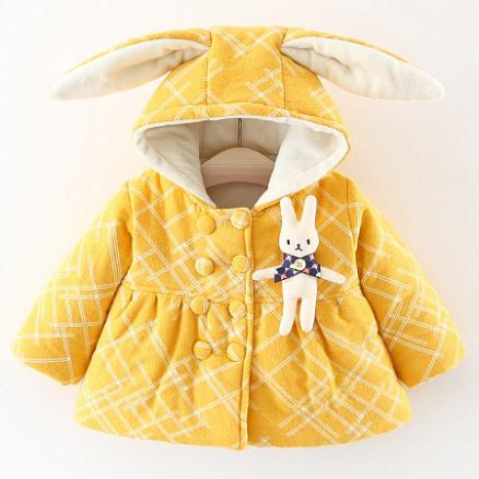 Bunny Ears Thickened Outerwear (3996824)