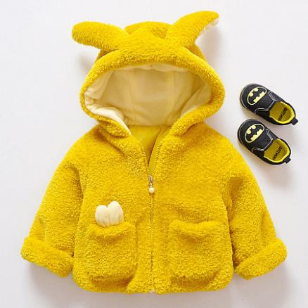 Bunny Ears Thickened Zipper Outerwear (4000725)