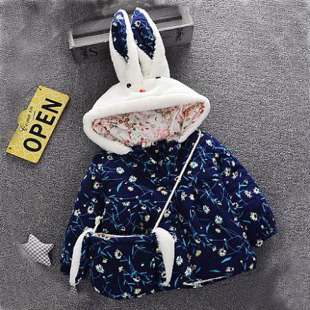 Cute Bunny Outerwear With Bag (3996808)