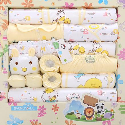 Newborn Baby Outfit-Cloth Set In Gift Box-18 Pieces (4023556)