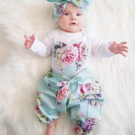 Flower Prints Heart Pattern Bowknot Decorated Set (4039839)