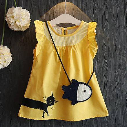 Kitty Sleeveless Dress With Bag (3427968)