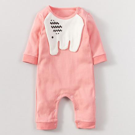 Lovely Elephant Pattern Baby Romper (3746360)