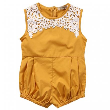 Lace Embellished Baby Rompers (3729093)