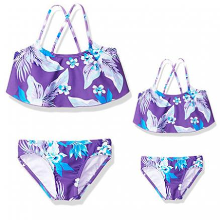 Mom Girl Botanical Prints Matching Swimwear (4400574)