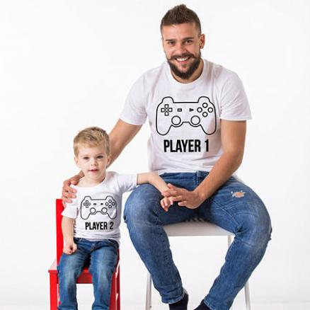 Cartoon Letters Pattern Family T-Shirt (4290238)