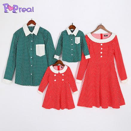 Polka Dots Family Outfits (4956761)
