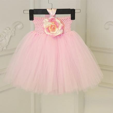 Flower Decorated Tutu Dress Baby Photo Props (3933314)