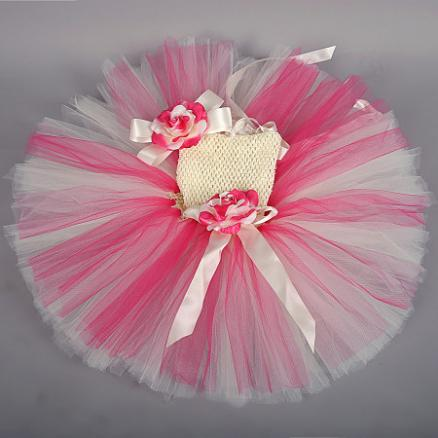 Flower Decorated Princess Tutu Dress For Baby Photo Props (3935313)