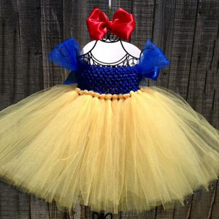 Snow White Tutu Dress Baby Photo Props With Bowknot Headband (3932533)