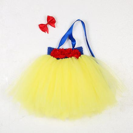 Snow White Tutu Dress Baby Photo Props With Bowknot Headband (3932665)