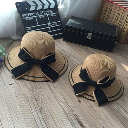 Mom Girl Bowknot Decorated Matching Caps (4338819)