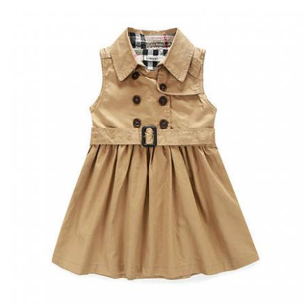 British Style Girls Sleeveless Dress With Belt (3518221)