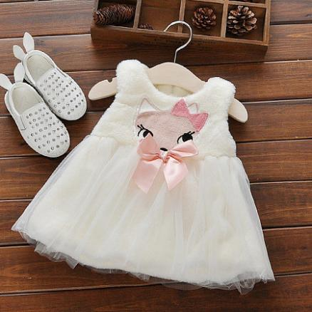 Cute Princess Plush Dress (3495017)