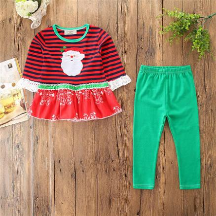 Christmas Santa Claus Pattern Stripe Sets (4964965)