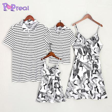 Casual Leaves Prints Family Outfits (4732965)