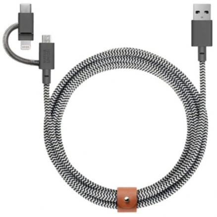 Кабель Native Union BELT-KV-ULC-ZEB Belt Cable Universal, 2 м, зебра