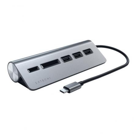 USB разветвитель Satechi Type-C USB Hub (ST-TCHCRM) Space Gray