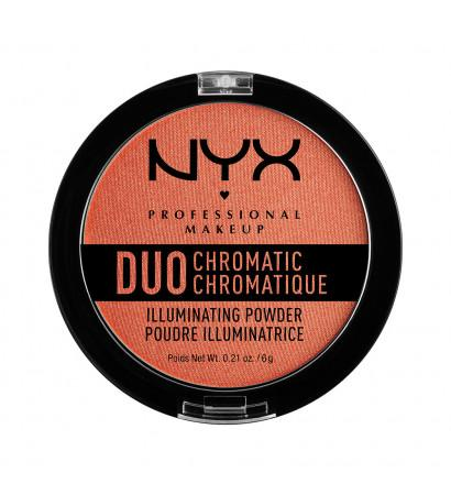 NYX PROFESSIONAL MAKEUP Сухой хайлайтер «дуо хроматик» Duo Chromatic Illuminating Powder - Synthetica 05