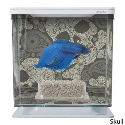 Аквариум Hagen Marina Betta Kit Skull квадратный 14x14x15  2 л