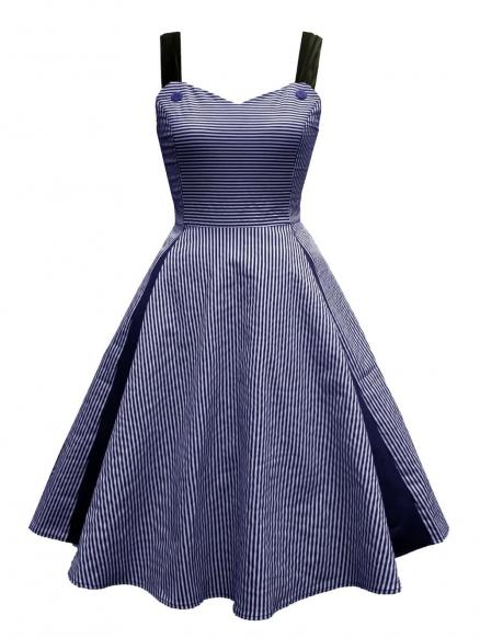 Striped Vintage Corset Pin Up Dress