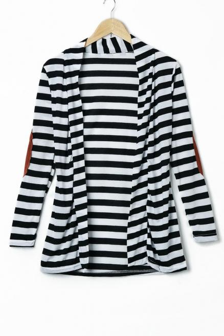Stylish Women's Long Sleeve Striped Slimming Blouse