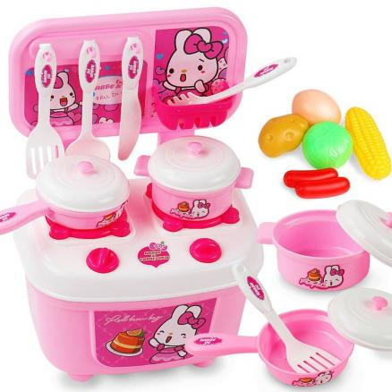 Children Kitchen Set Pretend Play Cut Toy Utensils 9-30PCS Fruit Vegetables Plastic Kids Cook Food Eduacation Game