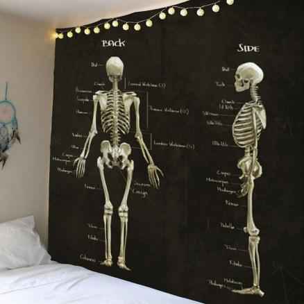 Home Decor Skeleton Print Wall Tapestry