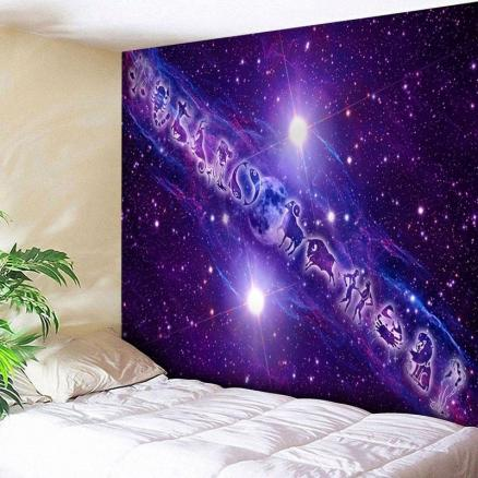 Twelve Constellations Pattern Wall Art Tapestry