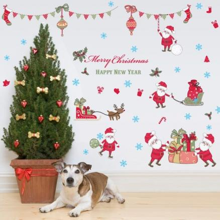 Merry Christmas Removable Waterproof Room Decor Wall Stickers
