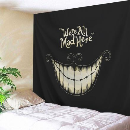 Halloween Funny Smile Printed Wall Art Decor Tapestry