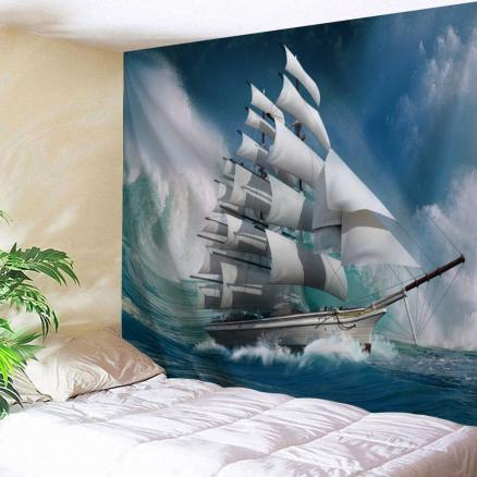 Nautical Scenic Print Wall Hanging Tapestry