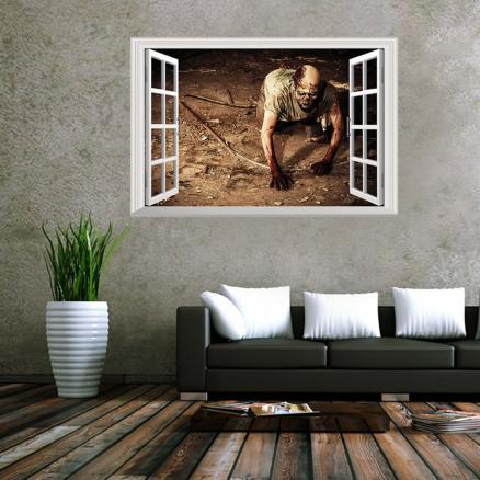 Window Zombie 3D Wall Art Sticker