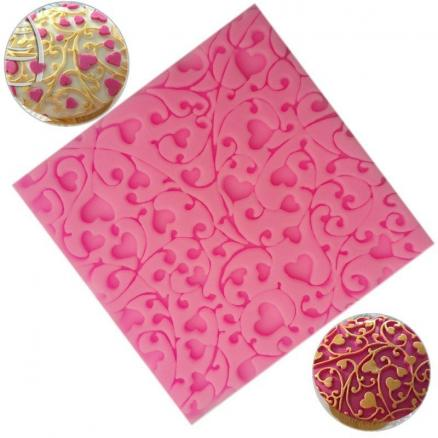 Flower heart Lace Gift Chocolate Silicone Mould Pastry Tool Bakeware Jelly Sugar Fondant Silicone Candy Gift decoration Mold