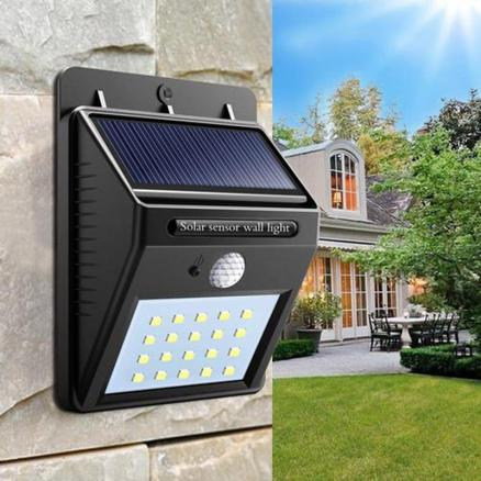 Great Gift for Christmas Solar Powered Waterproof 20 LED Motion Sensor Wall Light for Patio Garden