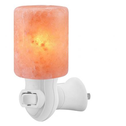 YouOKLight Cylinder Shape Himalayan Salt Lamp with Hand Carved Amber Glow Night Light 7W 120V 1PC